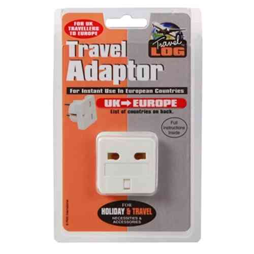 Travel Adaptor UK to Europe White