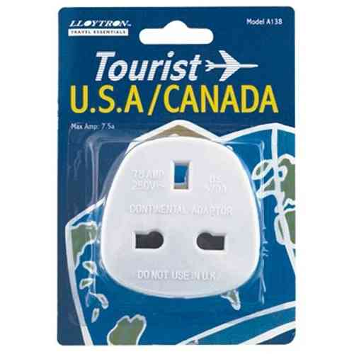 Travel Adapter Plug UK to USA