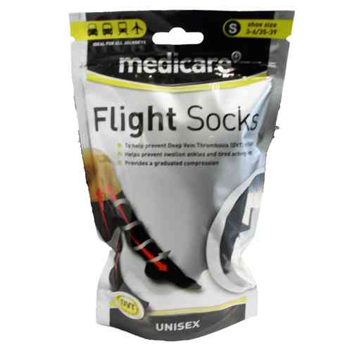 Medicare UNISEX Flight Socks Prevents Deep Vein Thrombosis DVT Size small