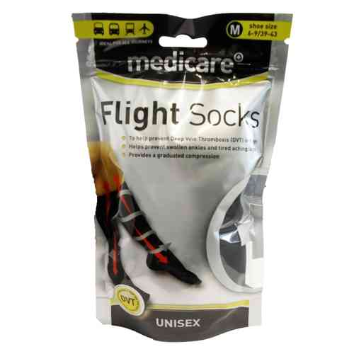 Medicare UNISEX Flight Socks Prevents Deep Vein Thrombosis DVT Size medium