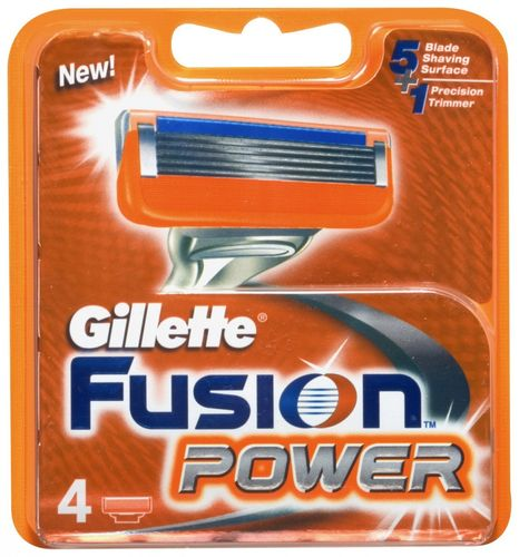Gillette Fusion POWER Blades Pack of 4 Replacement Cartridges for Razors